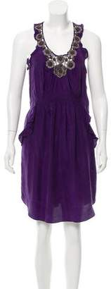 Rebecca Taylor Embellished Silk Dress