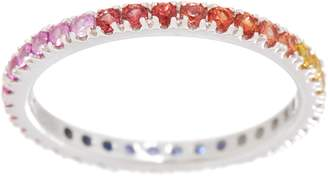 Colors of Sapphire Eternity Band, 0.70 cttw, Sterling Silver