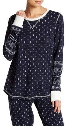 PJ Salvage Long Sleeve Waffle Knit PJ Shirt
