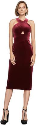 BCBGMAXAZRIA Maren Velvet Halter Dress