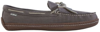 L.L. Bean L.L.Bean Men's Handsewn Slippers, Perforated Flannel-Lined