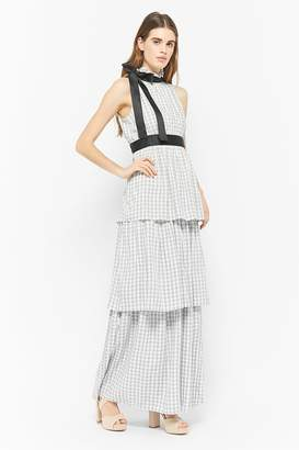 Forever 21 Tiered Gingham Maxi Dress