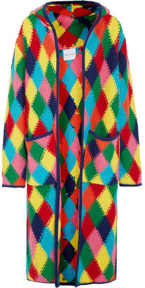 Mira Mikati - Diamond-stitched Wool-blend Cardigan - Bright yellow $1,270 thestylecure.com