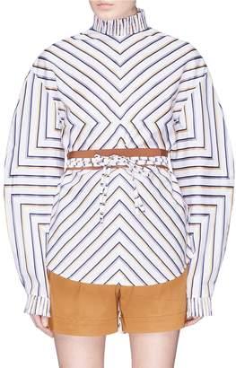 Silvia Tcherassi 'Stressa' cocoon sleeve chevron stripe poplin blouse