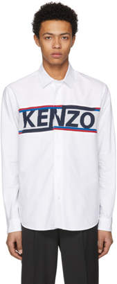 Kenzo White Core Knit Logo Shirt