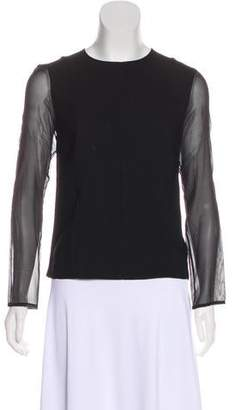 Rag & Bone Sheer-Paneled Long Sleeve Top