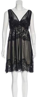 Dolce & Gabbana V-Neck Lace-Accented Nightgown