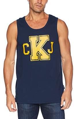 Calvin Klein Jeans Men's Collegiate Tank with CKJ Logo