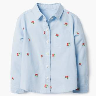 Gymboree Floral Oxford Shirt