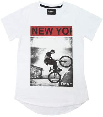 Fred Mello Ny Bmx Printed Cotton Jersey T-Shirt
