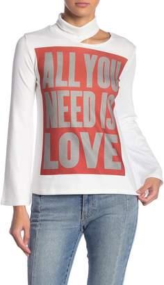 Couture Go Split Cutout Turtleneck Sweater
