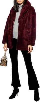 Topshop Bobby Faux Fur Coat