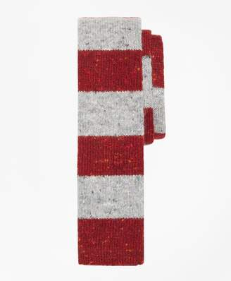 Brooks Brothers Melange Rugby Stripe Knit Tie