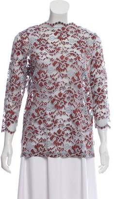 Ganni Lace Patterned Top