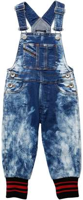 Diesel Bleached Stretch Denim Overalls