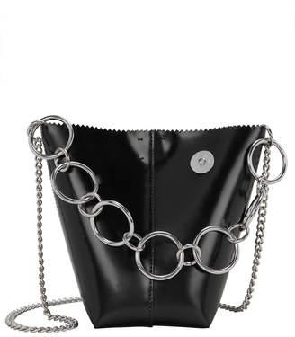 Kara Pico Pail Leather Black Bag