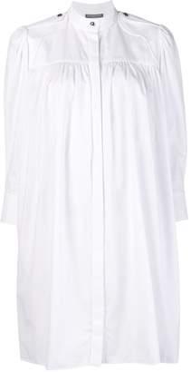 Alexander McQueen band collar smock dress