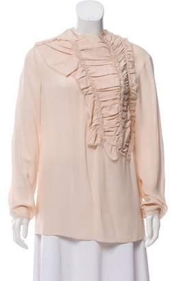 3.1 Phillip Lim Silk Long Sleeve Top