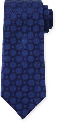 Charvet Large Dot-Print Silk Tie, Navy $245 thestylecure.com