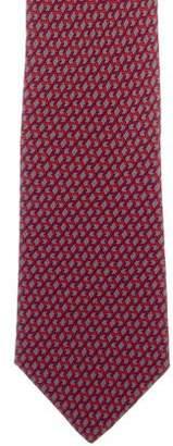 Hermes H Print Silk Tie