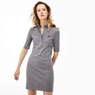 746106a13 Lacoste Women s Slim Fit Stretch Mini Pique Polo Dress