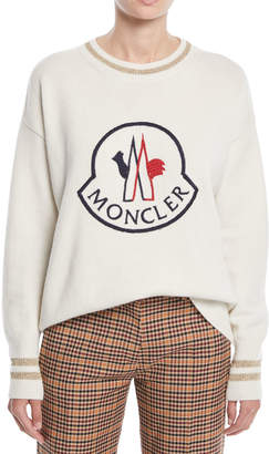Moncler Logo Embroidered Pullover Sweatshirt