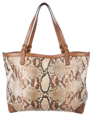Gucci Python Craft Tote Brown Python Craft Tote