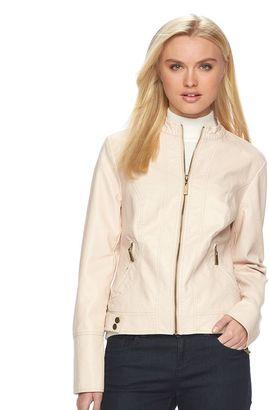 Women's Apt. 9® Faux-Leather Moto Jacket $78 thestylecure.com