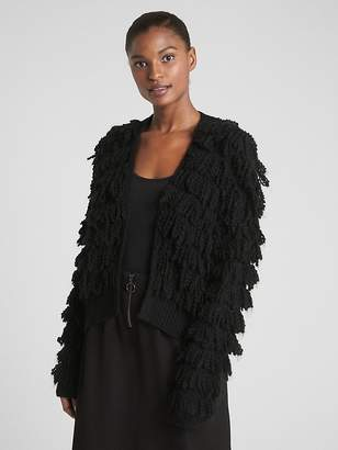 Gap Loop-Fringe Cardigan Sweater