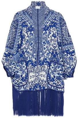 Camilla Poets Sanctuary Embellished Jacquard-Knit Jacket