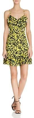 Parker Erica Ruffled Lemon-Print Dress