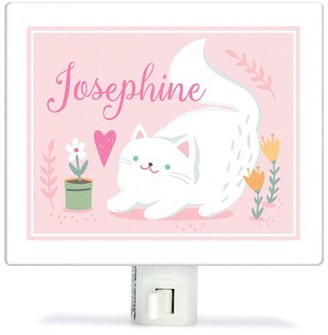Oopsy Daisy Fine Art For Kids Personalized Playful Kitten Canvas Night Light