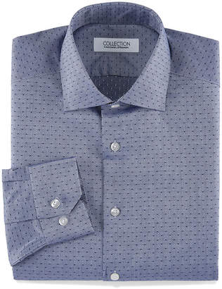 COLLECTION Collection by Michael Strahan Collection By Michael Strahan Stretch Fabric Long Sleeve Dress Shirt Long Sleeve Woven Dots Dress Shirt