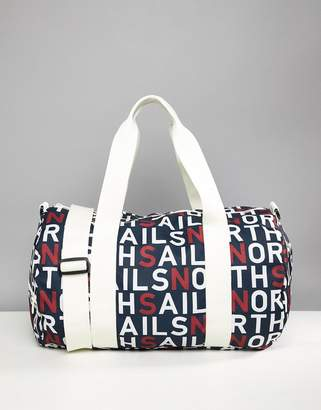 North Sails Large Duffle Bag In All Over Logo Print
