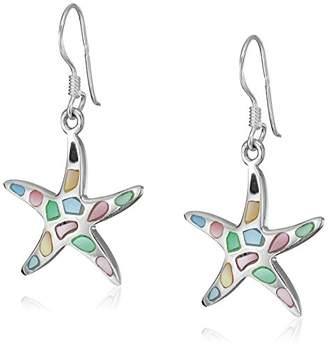 Mother of Pearl Sterling Multicolor Starfish Dangle Earrings