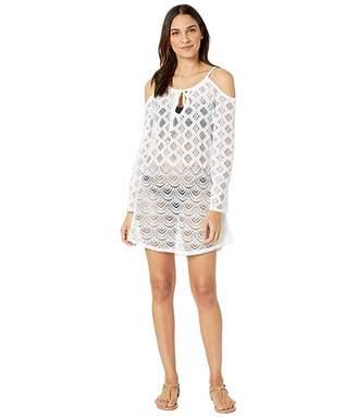 Dotti Sea Scallop Cold Shoulder Crochet Dress Cover-Up