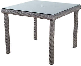 Tropez St. Wicker Square Dining Table - Gray - South Sea Rattan