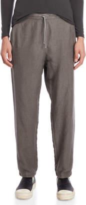 Transit Uomo Drawstring Linen Tapered Pants