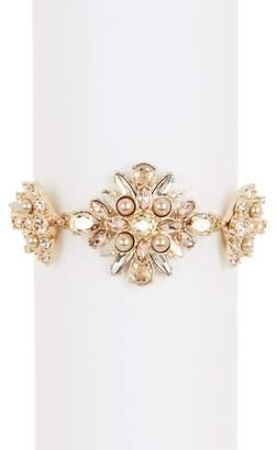 Givenchy Faux Pearl Crustal Station Bracelet