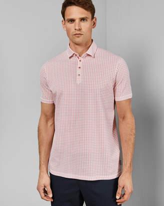 Ted Baker FLEE Geo print cotton polo shirt