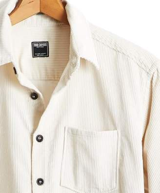 Todd Snyder Cord Shirt Jacket in White