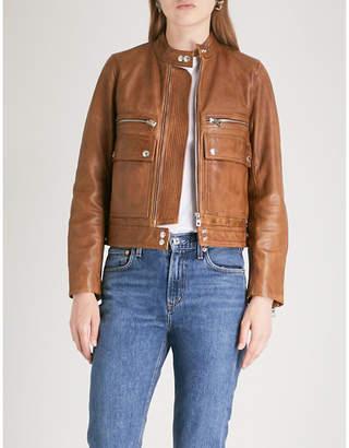 Zadig & Voltaire Goat-leather jacket