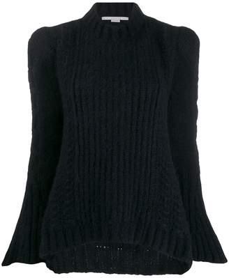 Stella McCartney rib-knit structured-shoulder jumper