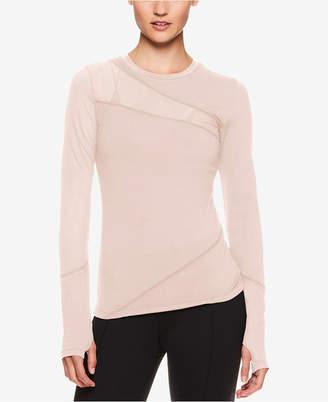 Gaiam X Jessica Biel Mesh-Detail Long-Sleeve Top