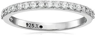 Judith Jack Classics Sterling /Swarovski Crystal Band Ring