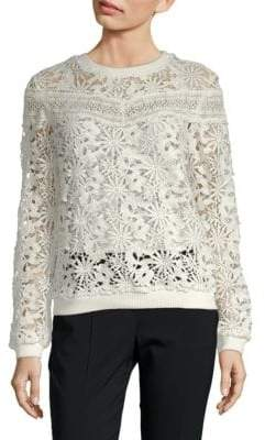 Endless Rose Lace Crewneck Sweater