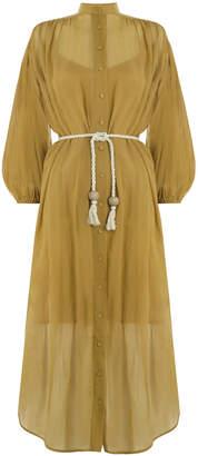 Zimmermann Wayfarer Crinkle Shirt Dress