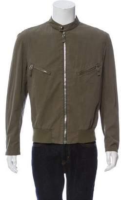 Helmut Lang Vintage Woven Cafe Racer Jacket