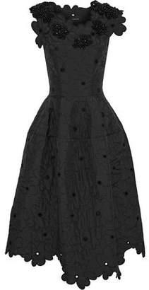 Simone Rocha Embellished Shell Midi Dress