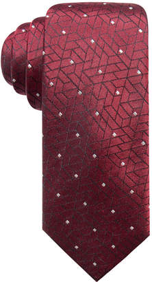 Alfani Men's Abstract Geometric & Dot Slim Silk Tie, Created for Macy's